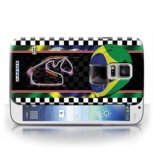 Etui / Coque pour Samsung Galaxy S5 Mini / Brésil/SãoPaulo conception / Collection de F1 Piste Drapeau