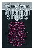 American Singers, Whitney Balliett, 0195025245