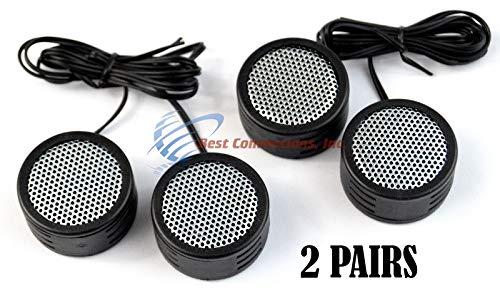 Tweeter Speakers Car (2 PACK DEAL Audiopipe 500w High Frequency Car Truck Boat Stereo Tweeters Built-in Crossover)