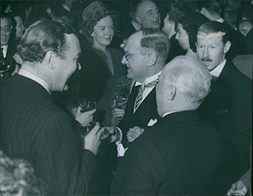 Vintage photo of Reception in the Opera foyer. A bowl of the Opera for England39;s young Prince. - 22 November 1948