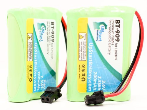 2x Pack - BT-909 Battery for Uniden TCX905, TRU9485, TRU8866, TRU9466, TRU9496, TRU9480, TRU8885, TRU9485-2, BT-634, DCT648-3 , GES-PC3F02, GP 80AAALH3BMX, TRU-9585, TWX977, DCT7585, DCT-7585, TRU9465, WHAMX4, GP60AAAH3BMS, RadioShack 43-139, 43-142 Cordless Phones (Bt1004 Uniden Replacement Battery)