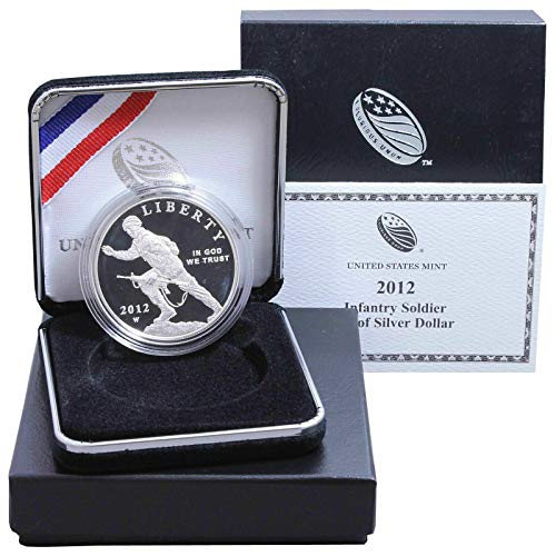 2012 W Infantry Soldier Commemorative Proof Silver Dollar DCAM Box w/COA US Mint