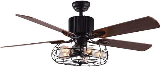 Retro Industrial Fan Chandelier Salón comedor con ventilador de ...