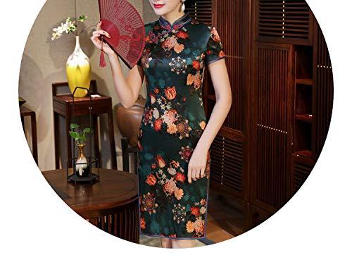 爬虫類気難しい非効率的なチャイナドレスのドレスシルク半袖の長いスカート 8782,8881,ザ?