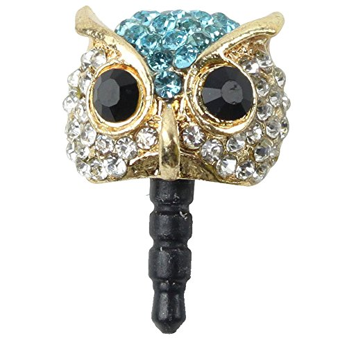 Owl Dust Plug - TOOGOO(R)Bling Crystals Night Owl Cellphone Charms Universal 3.5mm Dust Plug For iPhone Samsung iPod HTC