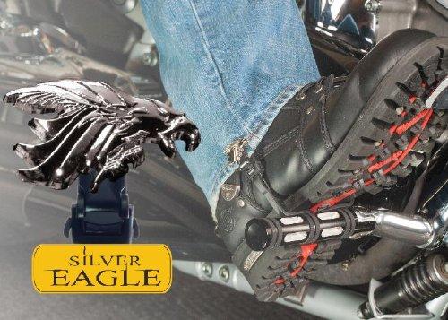 "Biker Boot Straps Straps Boot Silv Eagle 6"""