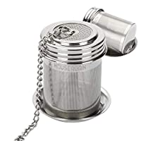 House Again 2 Pack Tea Ball Infuser & Cooking Infuser, Extra Fine Mesh Tea Infuser Threaded Connection 18/8 Stainless Steel with Extended Chain Hook to Brew Loose Leaf Tea, Spices & Seasonings