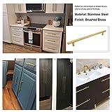 Goldenwarm 5pcs Brushed Brass Cabinet Cupboard