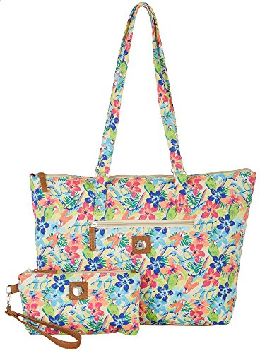 Stone Mountain Quilted Paisley Tote Handbag One Size Tropical print (Paisley Print Tote)