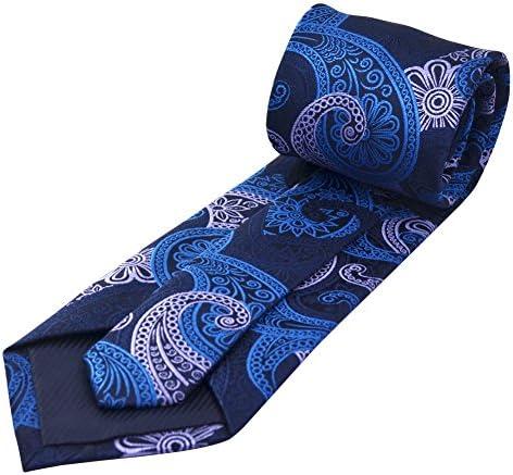 Mr.Van Clásica de hombre corbata y bolsillo cuadrado Set, Paisley ...