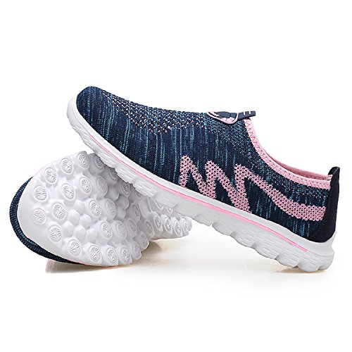 Shoes Knit Gym H Pink Mastery Casual Flats Shoes Athletic Running Men's Lightweight Trainers Blue Walking Jogging Unisex Women's Sports qwX6xgrw8