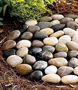 Wind & Weather River Rock Stepping Stones, set of 3
