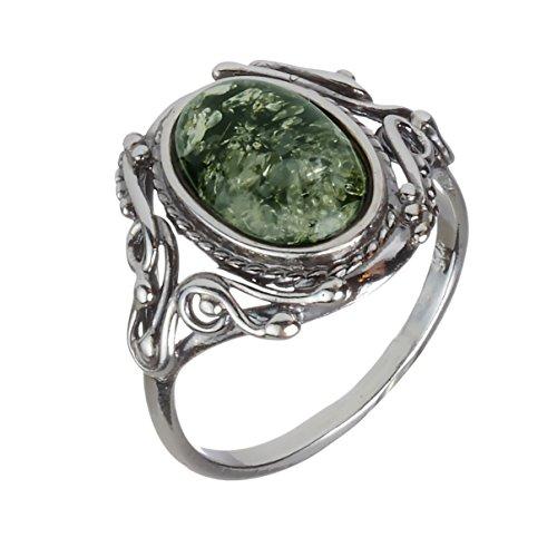 Amber Ring Georgine HolidayGiftShops Sterling product image