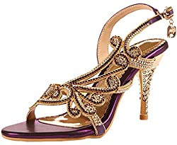 High Heels Sandal With Crystals