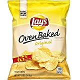 Lay's Oven Baked Original Potato Crisps, 0.875 Ounce (Pack of 60)