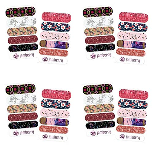 Jamberry Nail Wraps - Accent Sheets - Summer 2017 Luster & Satin Patterns - Set of 8