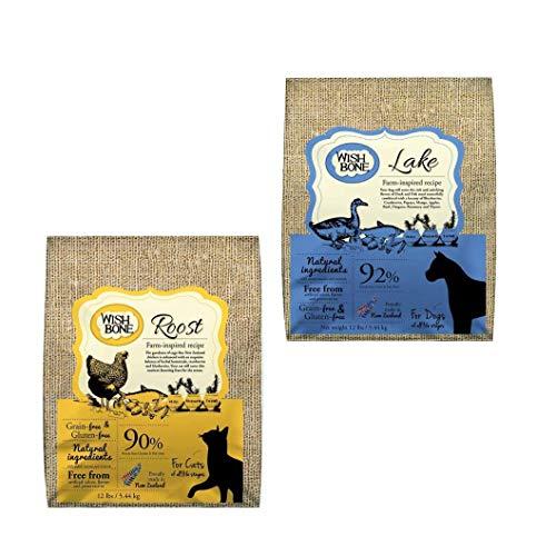 Kit: Wishbone Lake (canino) + Wishbone Roost sabor frango (felino), 5.44kg