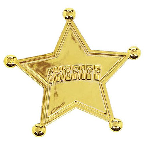 Toy Story Power Up Birthday Party Sheriff's Badge Favour, Pack Of 6, Yellow Gold , 2