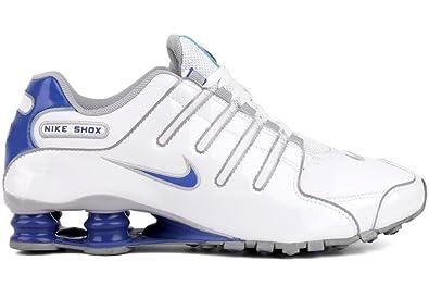best website 7a900 c0b76 Nike Shox NZ Mens Running Shoes 378341-140 White 7.5 M US