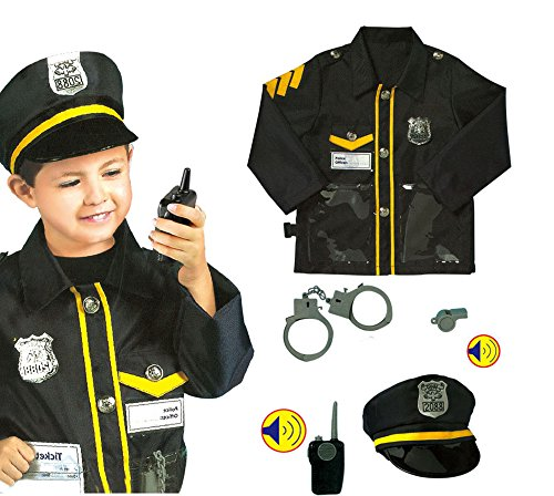 Policeman Costumes Child (GradPlaza Children Policeman Costume Set Navy Blue)