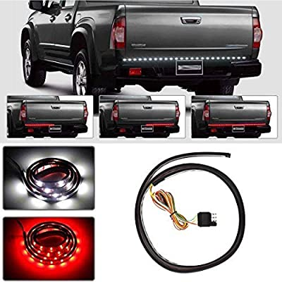 WFLNHB Truck Tailgate Light Bar Flexible Waterproof Red/White Strip Light 5-Featured Revese Running Brake Turn Signal for Ford GMC Dodge Toyota Nissan Honda Truck SUV: Automotive