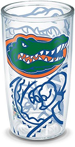 Tervis 1289071 Florida Gators Tumbler with Wrap, 16oz, Clear