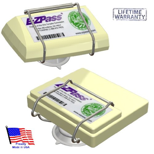 JL Safety EZ Pass-Port -  Indestructible Holder fits Mini and OLD size EZ Pass (not the Flex or HOV switch models), I Pass, I Zoom, PalPass hard case and FasTrak transponders. Holder only. Made in USA - Toll Pass Holder