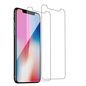 Woocika para iPhone X Cristal Templado [2-Unidades] Protector Pantalla para iPhone X, 3D Touch Compatibles Ajuste 9H Alta Definicion sin Burbujas para ...