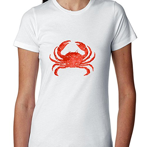 Hollywood Thread Big Red Crab - Maryland Chesapeake Bay Crab Women's Cotton (Mouth Chesapeake Bay)