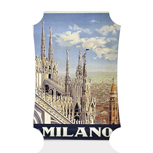 Sign Destination Aluminum Metal Wall Decor Milano Vintage Style A Vertical Classical Image Photo Print Wall Art - Berlin Shape, 12