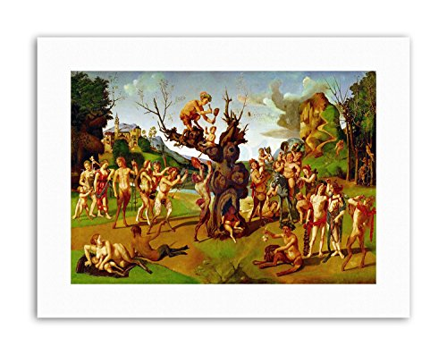 Wee Blue Coo Allegory Greek Mythology DI Cosimo Bacchus Honey Painting Canvas Art Prints