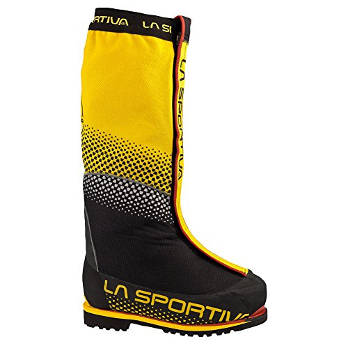 La Sportiva Olympus Mons Evo Men's Mountain Climbing Mountaineering Boot, Yellow/Black, 45.5