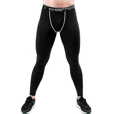 Britainlotus Mens Skinny Basketball Activewear Compression Running Fitness Leggings