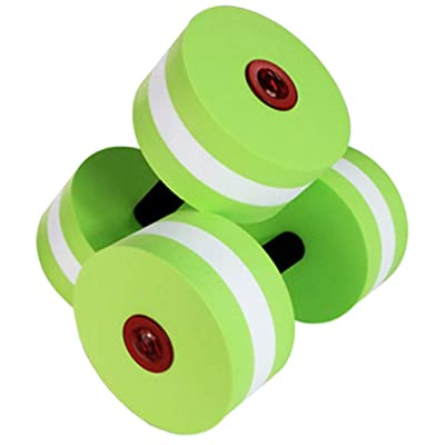 Mxl-Fitness 2Pcs EVA Aquatic Exercise Dumbbells Set Weights for Water Aerobics Fitness Pool Body Buliding Exercise - Water Dumbbell (Color : Green): Home & Kitchen