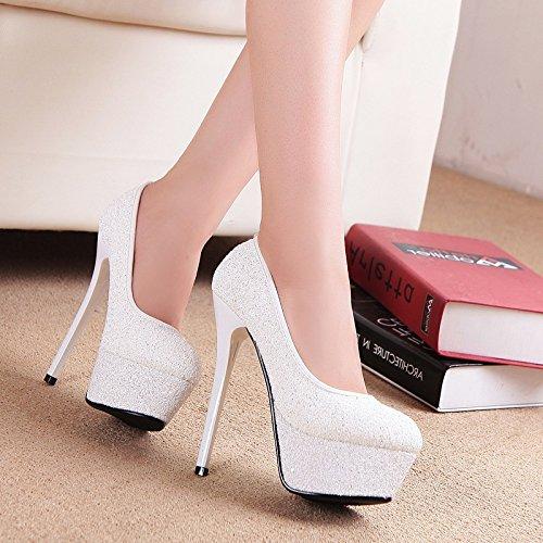 alto RUGAI Tacco sandali sequel calzatura color impermeabile UE Champagne singola qan6xUO