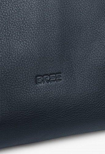 BREE - Cartera de mano con asa para mujer azul azul marino 38 cm x 27 cm x 9 cm (B x H x T) azul marino