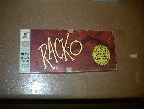(VINTAGE RACKO Game -- Rack-O -- Milton Bradley Company -- 1956)