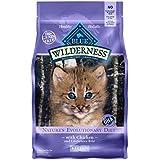 Blue Buffalo Wilderness High Protein Grain Free, Natural Kitten Dry Cat Food, Chicken 5-lb