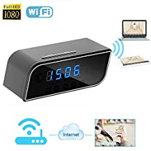 Hidden Camera Alarm Clock, Kolis Hidden Wi-Fi Cam Mini Spy Camera Alarm Clock Real-time Video Viewing Motion Activated Alarm Security & Surveillance Night Vision DV