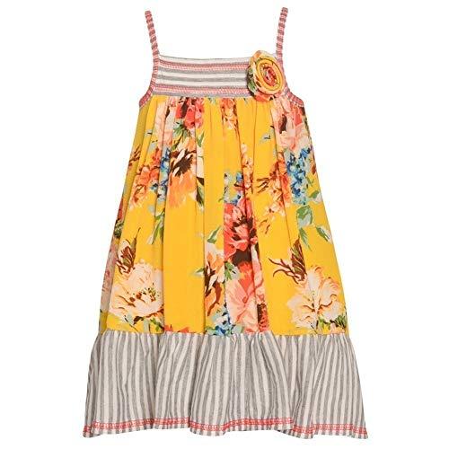 Jean Sundress Bonnie - Bonnie Jean Girls Summer Print Camisole Style Maxi Dress (10)