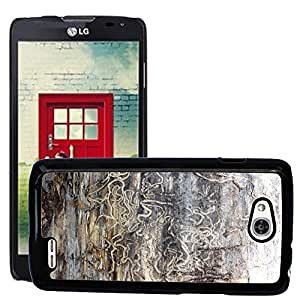 Etui Housse Coque de Protection Cover Rigide pour // M00151042 Termitas Tracks Árbol daños Naturaleza // LG Optimus L90 D415
