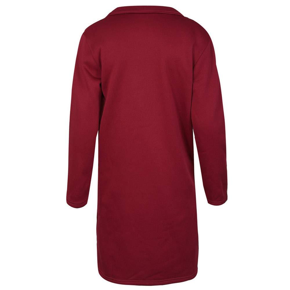 Linlink Invierno cálido y sólido para Mujer Sexy Invierno Caliente botón Abrigo Cardigan Outwear Chaqueta de Abrigo: Amazon.es: Ropa y accesorios