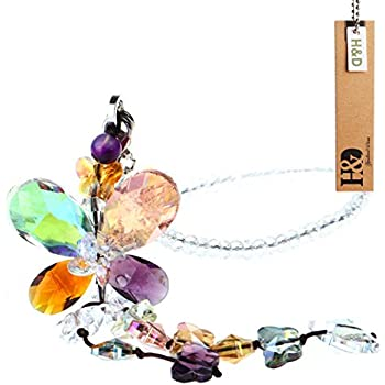 H D Clear Hanging Crystal Ball Prisms Flower Fengshui