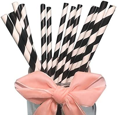 Stripes Drinking Straws Dectorations Striped product image