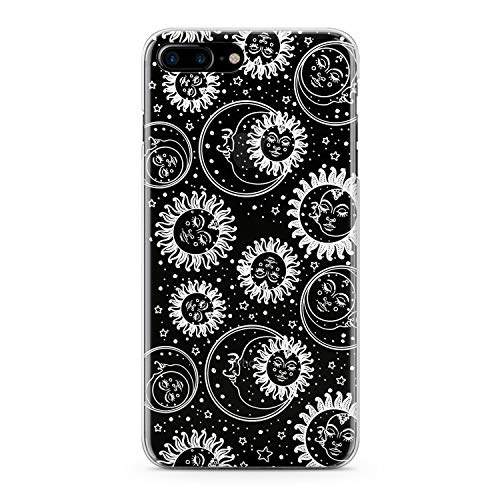 Lex Altern TPU Case for iPhone Apple Xs Max Xr 10 X 8+ 7 6s 6 SE 5s 5 Cover Slim fit Moon Pattern Women Cute Teen Flexible Print Lightweight Art Girly Design White Gift Smooth Soft Clear Celestial