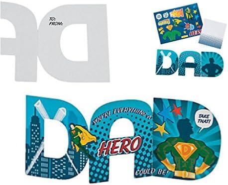 Amazon.com: Fathers Day DIY Craft Kit; 1 Super Dad Sign Craft Kit, 1 ...