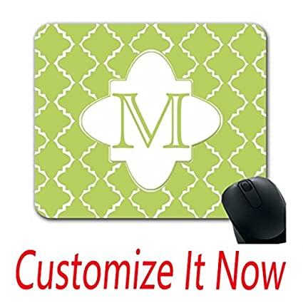 amazon com quatrefoil mouse pad with wrist rest wedding custom