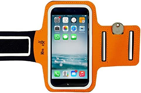 Azul Banda Ajustable para Brazo Deportes KHOMO Funda Brazalete iPhone XS MAX 6.5 2018 7 Plus iPhone 8 Plus 6//6S Plus