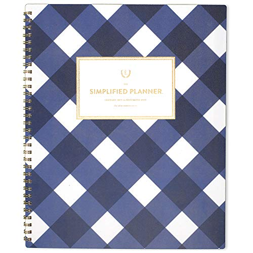 Monthly Wirebound Day Planner - Emily Ley 2019 Monthly Planner, The Simplified Planner, 8-1/2