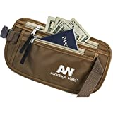 Money Belt for Travel with Security Hidden RFID Waist Pouch.